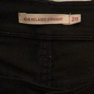 Levi's Jeans - Levi 414 Relaxed Straight in Black Onyx - Sz 28